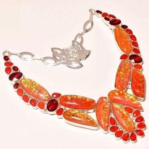 Australian Opal and Garnet necklace